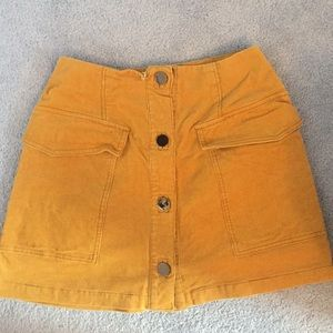 Yellow Skirt with buttons